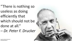 Drucker - Efficiency